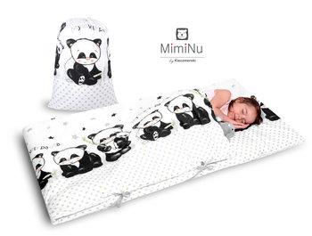 MimiNu by Kieczmerski, Śpiworek dla przedszkolaka, Panda, 75x195 cm-MimiNu by Kieczmerski