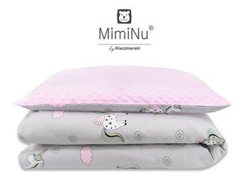 MiMiNu, Minky, Komplet do wózka: kołdra 75x100 cm + poduszka 40x40 cm-MimiNu by Kieczmerski