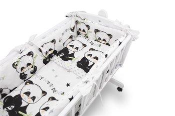 MimiNu, Pościel niemowlęca do kołyski, 5 elementowa, Panda, Bawełna-MiMiNu