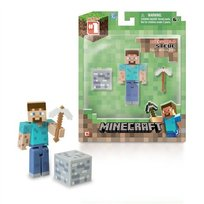 Minecraft, figurka Steve + akcesoria