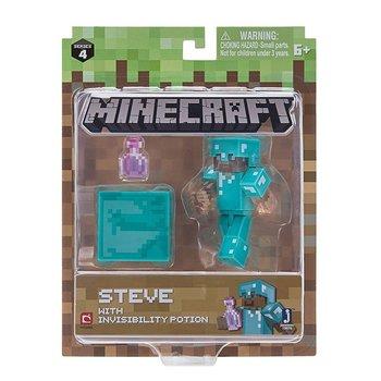 Minecraft, figurka Steve z eliksirem niewidzialności-Minecraft