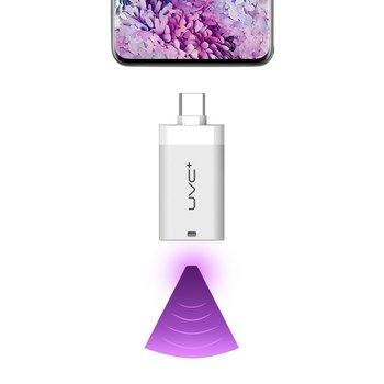 Mini mobilny sterylizator lampa UV UVC do telefonu ze złączem USB Typ C OTG biały - Biały-Hurtel