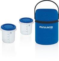 Miniland, Torba podróżna izotermiczna z dwoma pojemnikami hermetycznymi, 250 ml