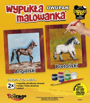 Mirage, wypukła malowanka Konie Angielski-Bretoński-Mirage