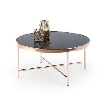 MISOOL Stolik kawowy, czarny, miedziany, 82x40 cm-Style Furniture