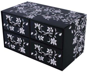 Miss space, Pudełko kartonowe, czarne, 25x25x44 cm-Miss space