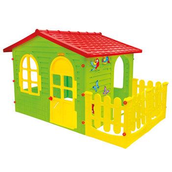 Mochtoys, domek ogrodowy z płotkiem, 10498-Mochtoys