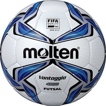 Molten, Piłka nożna, Vantaggio F9V4800 futsal Fifa, biało-granatowy, rozmiar 5-Molten