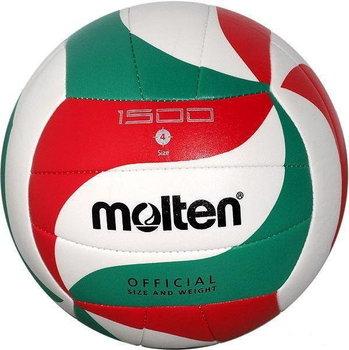 Molten, Piłka siatkowa, V4M 1500, biało-zielona, rozmiar uniwersalny-Molten