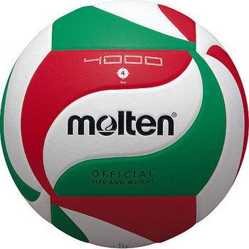 Molten, Piłka siatkowa, V4M4000, biało-zielona, rozmiar uniwersalny-Molten