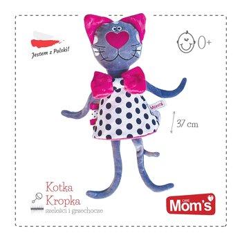 Mom's Care, maskotka Kotka Kropka, szeleścik z grzechotką-Mom's Care