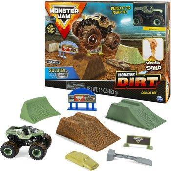 Monster Jam, auto z piaskiem kinetycznym Soldier Fortune, zestaw -Monster Jam