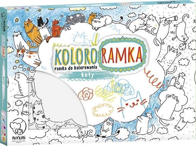 Monumi, zestaw kreatywny Kolorowanka Ramka Do Zawieszenia - Koty
