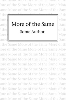 More of the Same-Author Some
