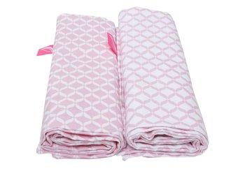 Motherhood, Otulacze flanelowe Premium, 80x120 cm, Różowy Classics, 2 szt.-Motherhood