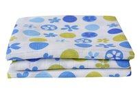 Motherhood, Pieluchy tetrowe, 3 szt., niebiesko-zielone kwiatki
