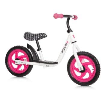 Movino, rowerek biegowy Spark, biało-różowy