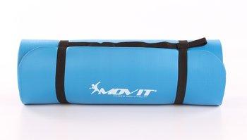 Movit, Mata do ćwiczeń, jogi/masażu, niebieska, 190x60 cm -Movit