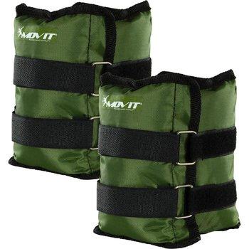 Movit, Opaski obciążające na rzepy, zielono-czarne, 2x2,5 kg -Movit