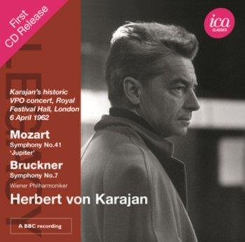 Mozart, Bruckner: Krajan's historic VPO concert, Royal Festival Hall, London-Wiener Philharmoniker, Von Karajan Herbert