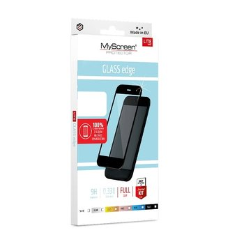 MS Lite Glass Edge FG Motorola Moto G8 Power Lite czarny/black Full Glue-MyScreenPROTECTOR