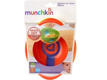 Munchkin Zestaw Miseczek Z Czujnikiem Temperatury 3 Sztuki Em-Munchkin