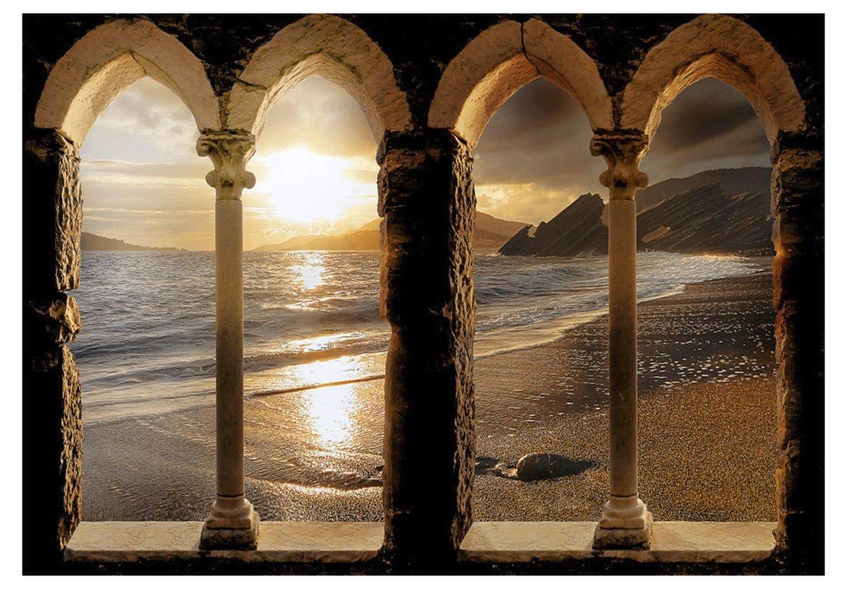 murando fototapeta zamek na pla y 350x245 cm murando On fotomurali leroy merlin