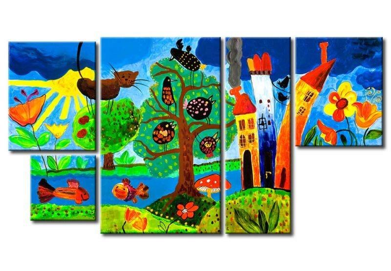Murando obraz magiczna kraina 63x115 cm sklep empik com - Quadri per camera bambini ...