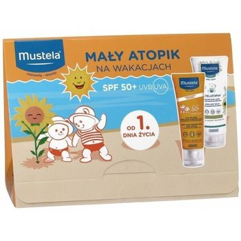 Mustela zestaw Mały Atopik na wakacjach, mleczko ochronne SPF50+, 40 ml + Stelatopia, balsam emolient, 40 ml-Mustela