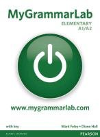 MyGrammarLab Elementary with Key and MyLab Pack - Hall Diane, Foley Mark