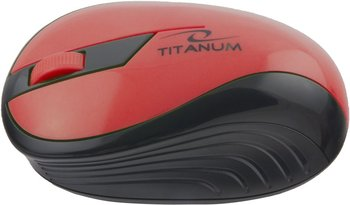 Mysz TITANUM TM114R rainbow, bezprzewodowa, optyczna, czerwona-Esperanza