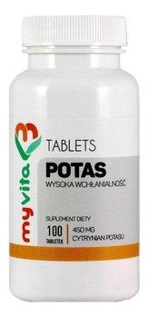 MyVita, suplement diety Potas, 100 tabletek-MyVita