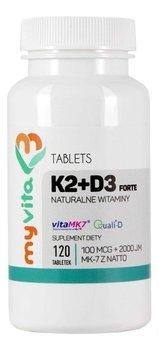 MyVita, Witamina K2 MK-7 + D3, 120 tabletek-MyVita