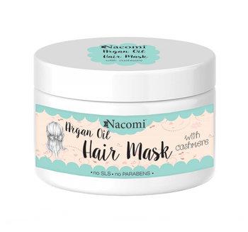 Nacomi, Argan Oil Hair Mask, maska do włosów z olejem arganowym i proteinami kaszmiru, 200 ml-Nacomi