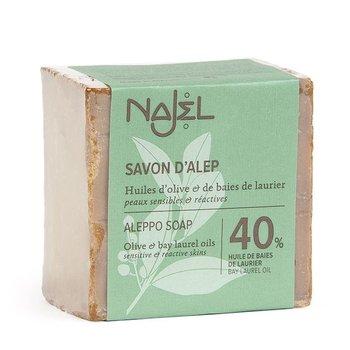 Najel, mydło aleppo z olejem laurowym 40%, 185 g-Najel