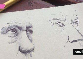 Najtańsza technika rysowania–długopis!