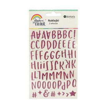 Naklejki alfabet, Dream in colour, 2 arkusze-Rosie's studio