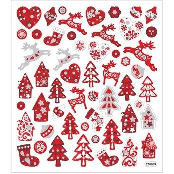 Naklejki, Boże Narodzenie, biało-czerwone-Creativ Company A/S