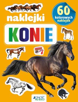 Naklejki konie. 60 kolorowych naklejek-Opracowanie zbiorowe