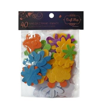 Naklejki piankowe, Craft Shop, Kwiaty