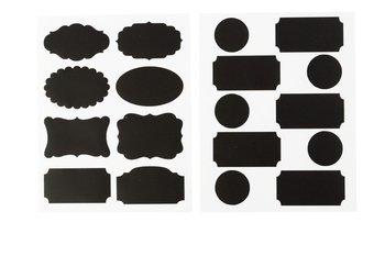 Naklejki tablicowe, etykiety, czarne, 2 arkusze-Creativ Company A/S
