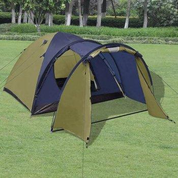 Namiot 4-osobowy, zielony-vidaXL