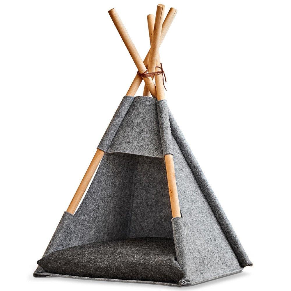 Namiot dla kota Tipi, filcowy, legowisko 44x42x4565 cm