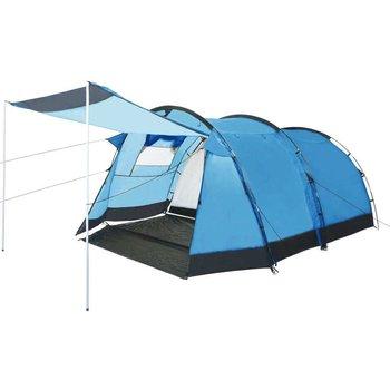Namiot turystyczny tunelowy, 4-osobowy, niebieski-vidaXL