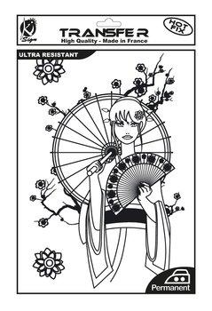 Naprasowanka, A4, Manga, czarna-Ki-Sign
