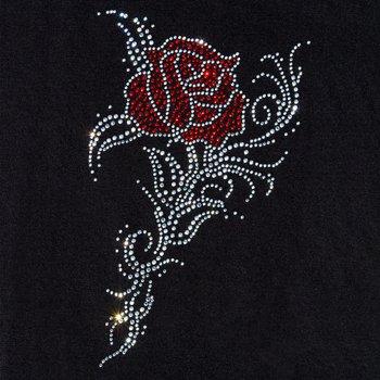 Naprasowanka dżetowa, Róża, transparentno-czerwona-The Clay and Paint Factory