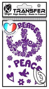 Naprasowanka mini Fioletowa Pokój i Miłość, arkusz-Ki-Sign
