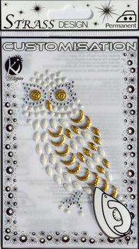 Naprasowanka, Sowa, biała-Ki-Sign