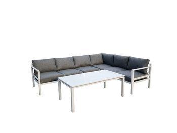 Narożnik ogrodowy BELLO GIARDINO Alluminio Grande, biały, 5 elementów-Bello Giardino