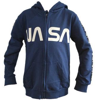 NASA BAWEŁNIANA BLUZA Z KAPTUREM NASA R140-NASA